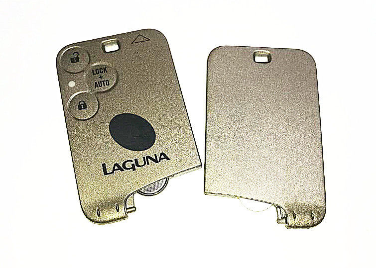 Renault Laguna Keyless Entry Fob 3 Button 433Mhz Logo Customized Silver Color