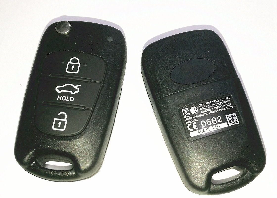 Black Hyundai Car Key OKA-186T / NO32 MD-TP With 46 Chip PCF7936